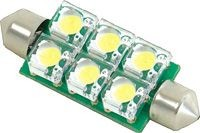 LED-Lampeneinsatz, 6LED, Sofitte S8.5. weiß